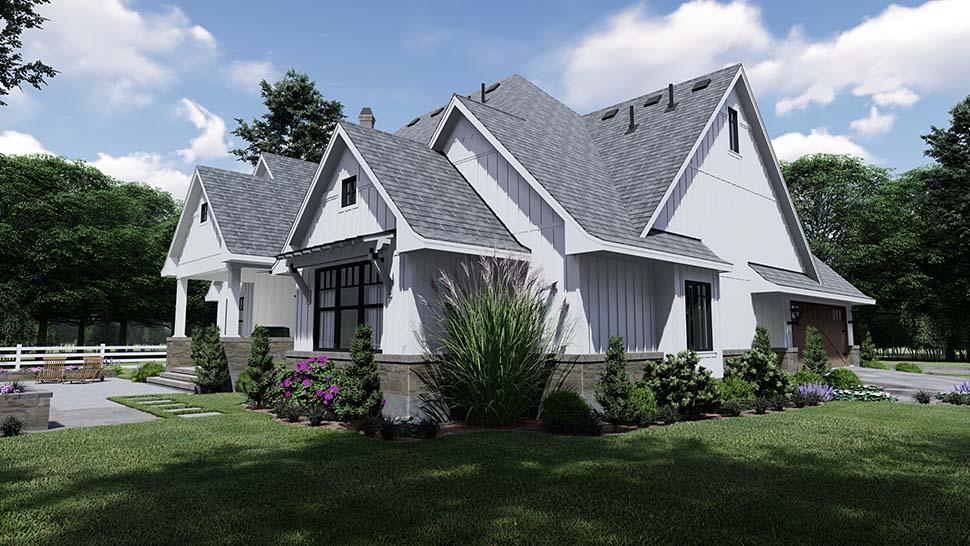 Country, Farmhouse, Southern House Plan 75156 with 4 Beds, 4 Baths, 2 Car Garage Picture 7