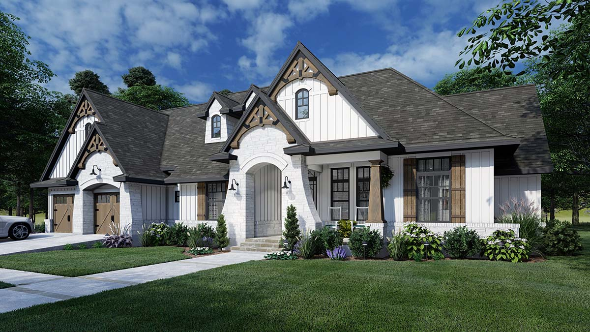 Traditional Style House Plan Number 75161 With 4 Bed 3 Bath 2 Car Garage
