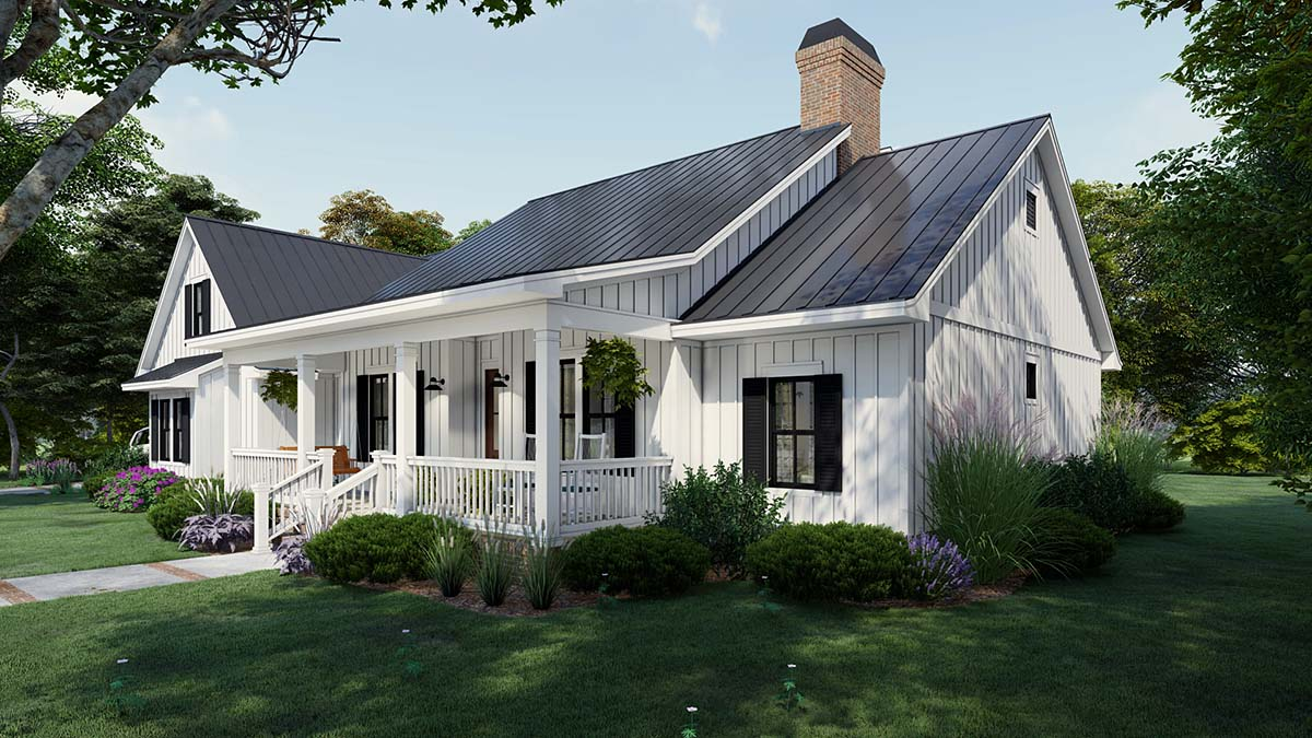 Cottage, Country, Farmhouse House Plan 75163 with 4 Beds, 3 Baths, 2 Car Garage Picture 1