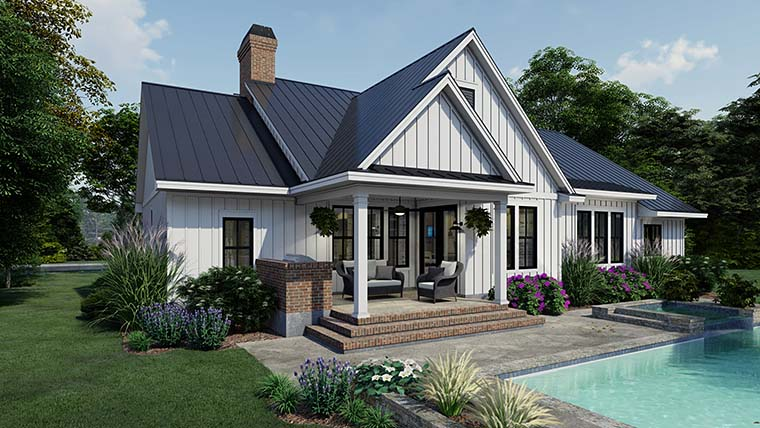 Cottage, Country, Farmhouse House Plan 75163 with 4 Beds, 3 Baths, 2 Car Garage Picture 5