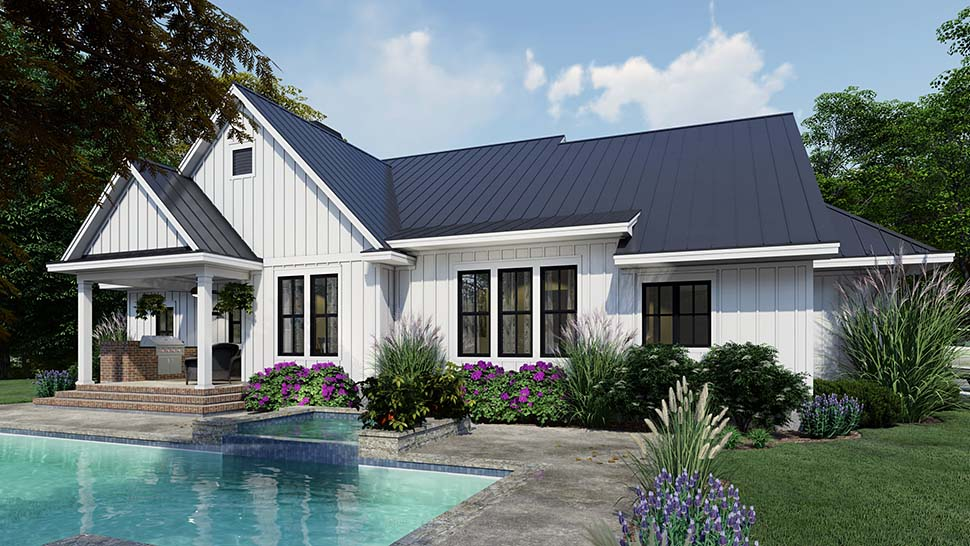 Cottage, Country, Farmhouse House Plan 75163 with 4 Beds, 3 Baths, 2 Car Garage Picture 6