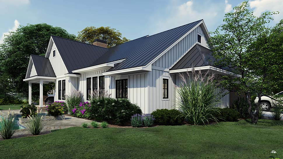 Cottage, Country, Farmhouse House Plan 75163 with 4 Beds, 3 Baths, 2 Car Garage Picture 7