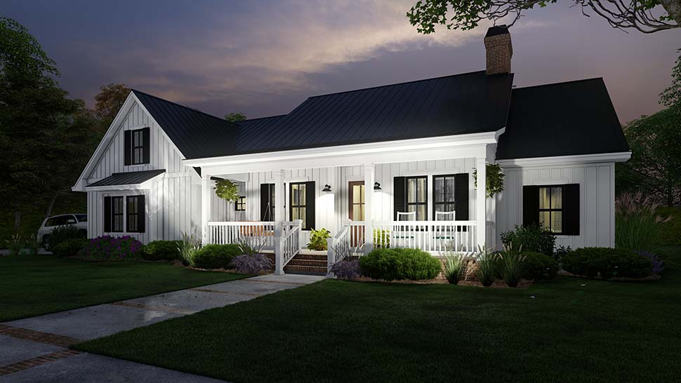 Cottage, Country, Farmhouse House Plan 75163 with 4 Beds, 3 Baths, 2 Car Garage Picture 9