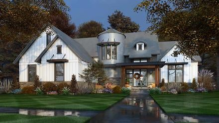 Country, Farmhouse House Plan 75165 with 3 Beds, 3 Baths, 2 Car Garage