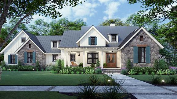 Cottage, Country, Farmhouse, Southern House Plan 75167 with 3 Beds, 3 Baths, 2 Car Garage Elevation