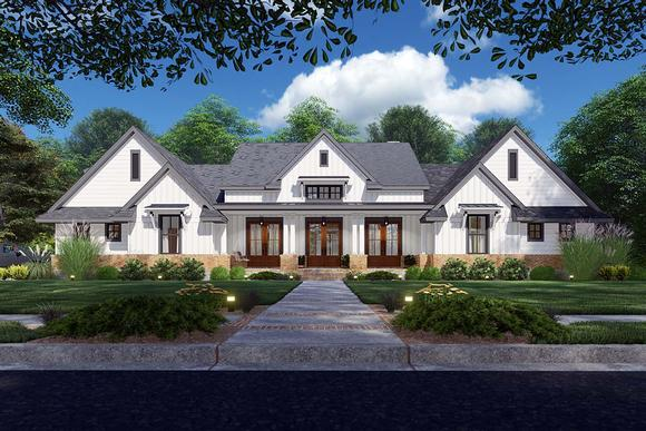 Country, Farmhouse, Ranch, Southern House Plan 75168 with 4 Beds, 4 Baths, 2 Car Garage Elevation