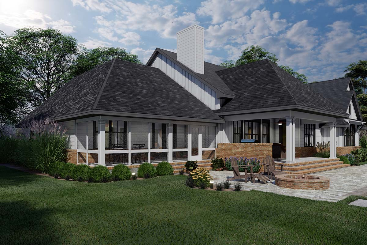 Country, Farmhouse, Ranch, Southern House Plan 75168 with 4 Beds, 4 Baths, 2 Car Garage Picture 1