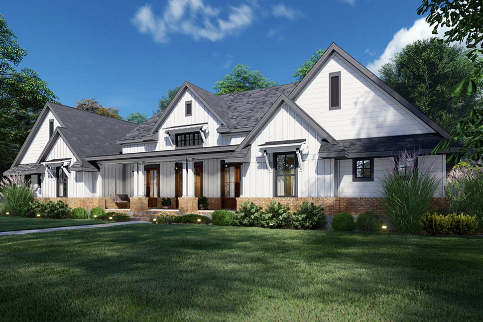 Country, Farmhouse, Ranch, Southern House Plan 75168 with 4 Beds, 4 Baths, 2 Car Garage Picture 3