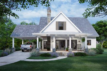 Cottage, Farmhouse House Plan 75170 with 3 Beds, 2 Baths