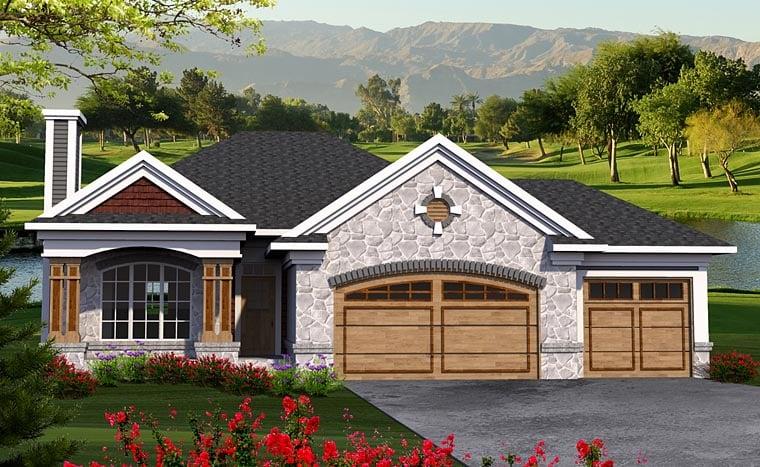 Craftsman European House Plan 75200 Elevation