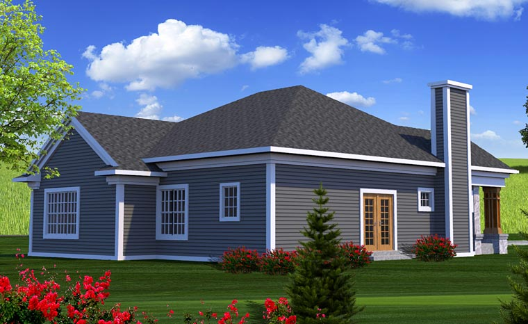 Craftsman European House Plan 75200 Rear Elevation