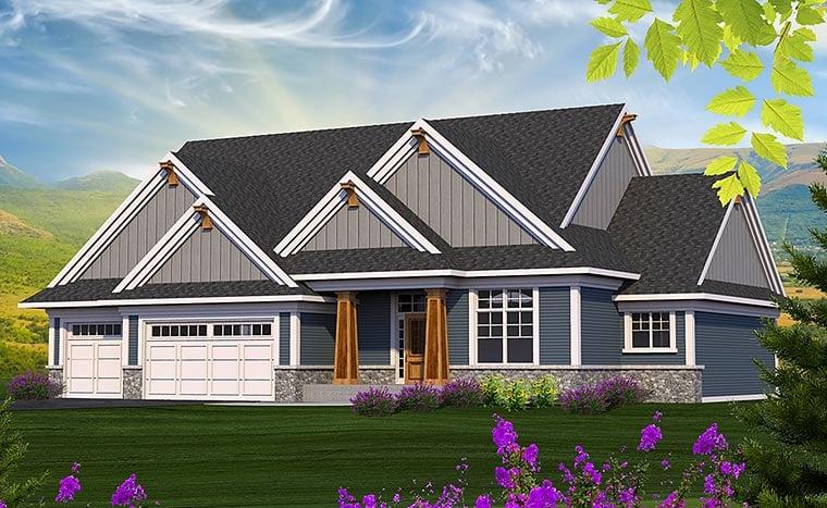 Craftsman Traditional House Plan 75210 Elevation