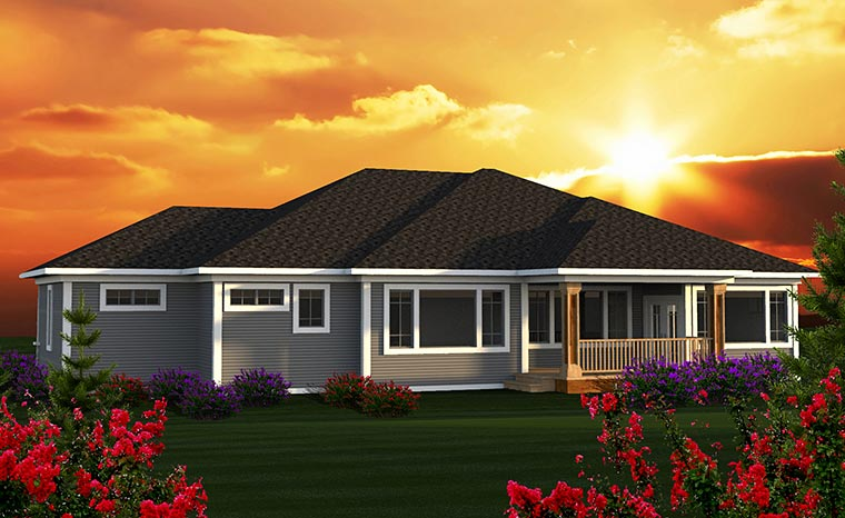 Contemporary Tuscan House Plan 75217 Rear Elevation