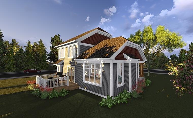 Bungalow Cottage Craftsman House Plan 75230 Rear Elevation