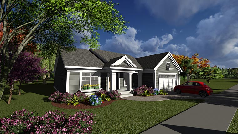 Ranch Traditional House Plan 75231 Elevation