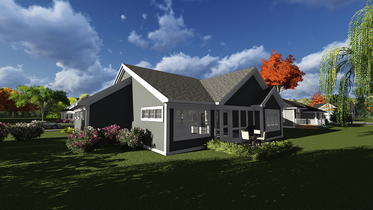 Ranch Traditional House Plan 75231 Rear Elevation