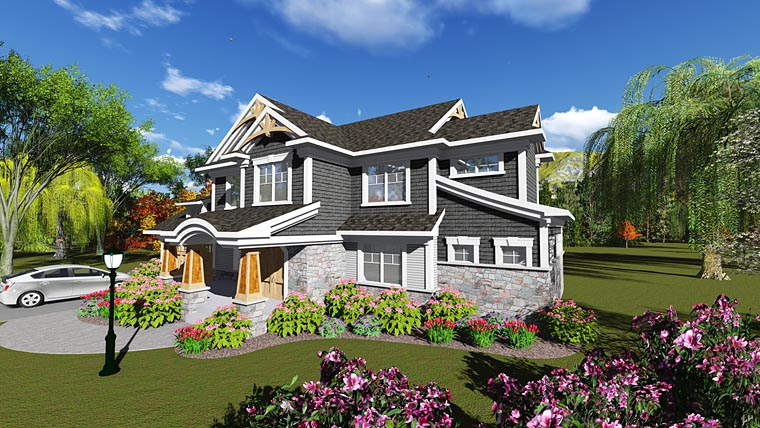 Bungalow Cottage Craftsman Traditional House Plan 75243 Elevation
