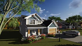 Bungalow , Craftsman , Traditional House Plan 75244 with 4 Beds, 3 Baths, 3 Car Garage Elevation