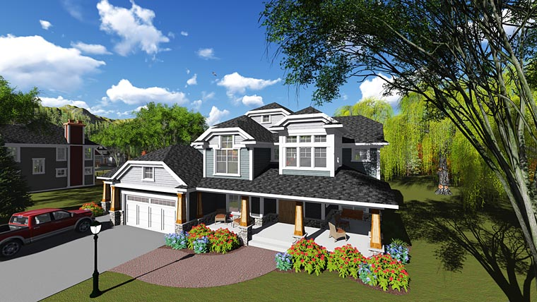 Bungalow Contemporary Craftsman House Plan 75249 Elevation
