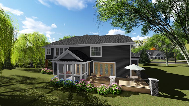 Bungalow Contemporary Craftsman House Plan 75249 Rear Elevation