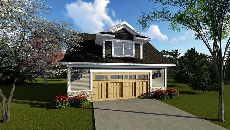 Cottage Country Craftsman Garage Plan 75251 Elevation