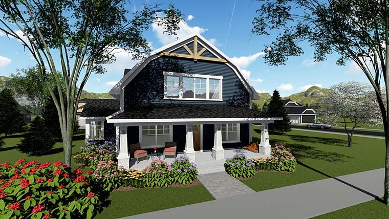 Bungalow Cottage Country Craftsman Southern House Plan 75260 Elevation