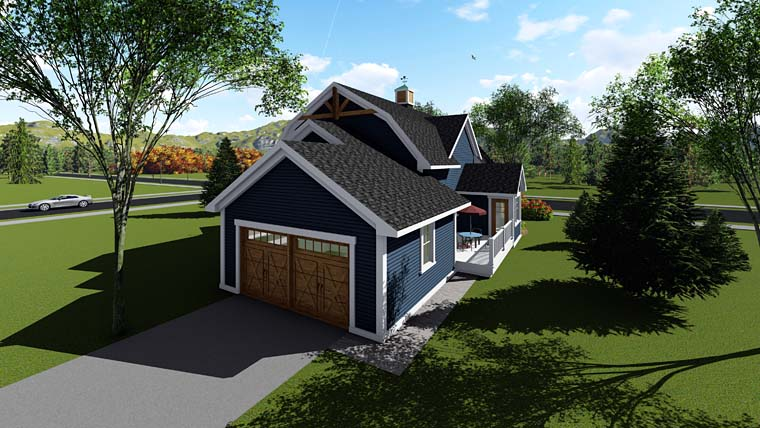 Bungalow Cottage Country Craftsman Southern House Plan 75260 Rear Elevation