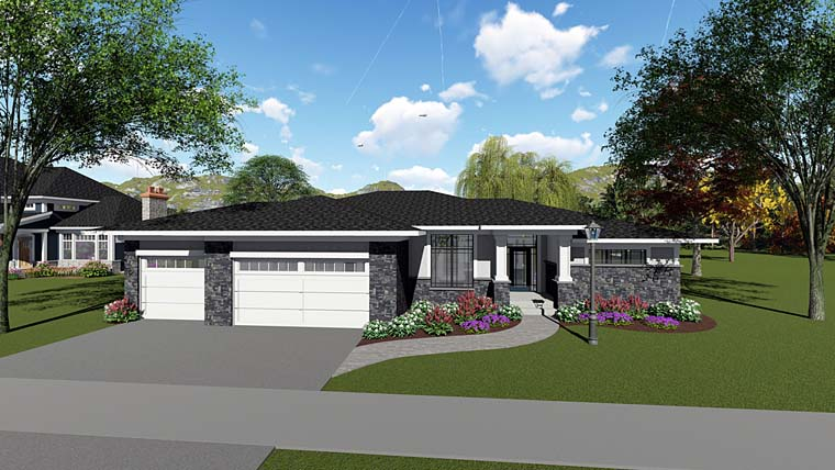 Contemporary Ranch Southwest House Plan 75265 Elevation
