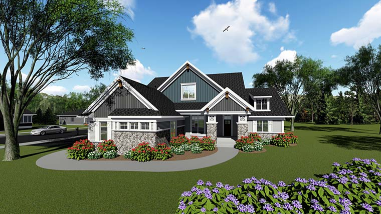 Cottage Craftsman Southern House Plan 75266 Elevation