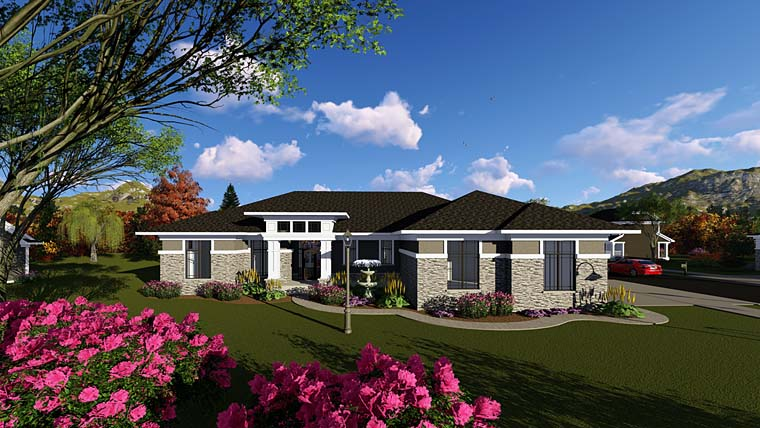 Contemporary Southwest House Plan 75268 Elevation