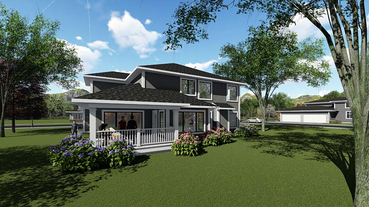 Contemporary Southwest House Plan 75270 Rear Elevation