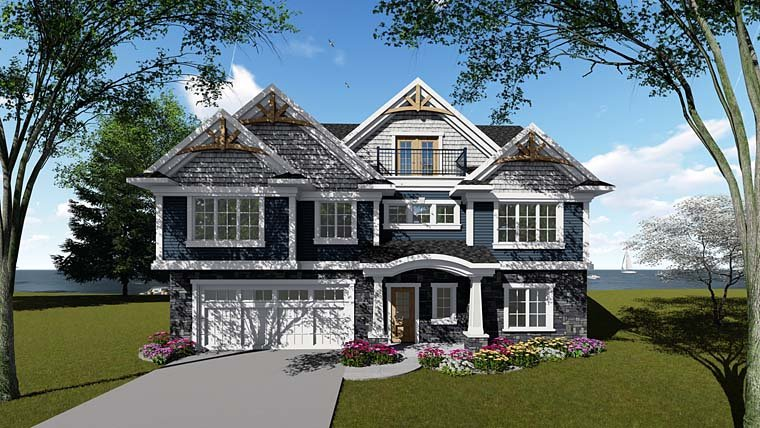 Cottage Country Craftsman Southern House Plan 75276 Elevation