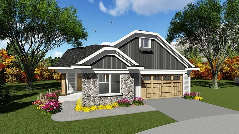 Cottage Country House Plan 75284 Elevation