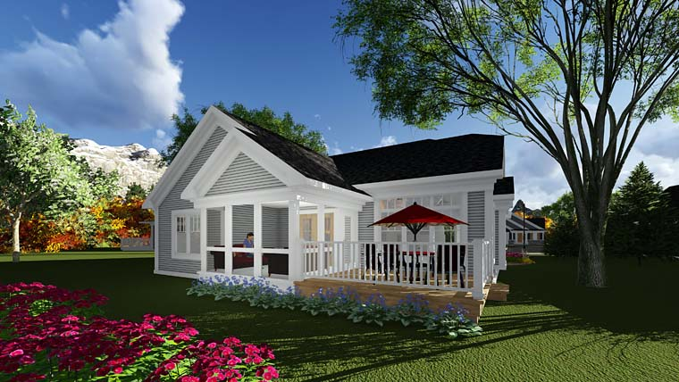 Cottage Country House Plan 75284 Rear Elevation