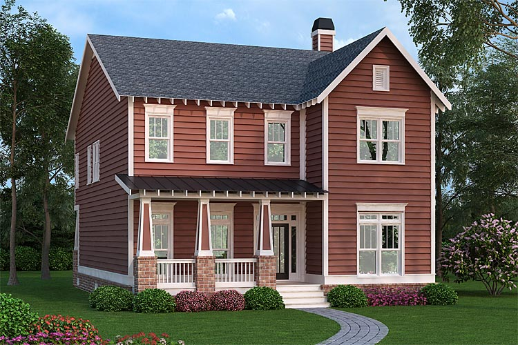 Colonial, Southern House Plan 75307 with 4 Beds, 3 Baths Elevation