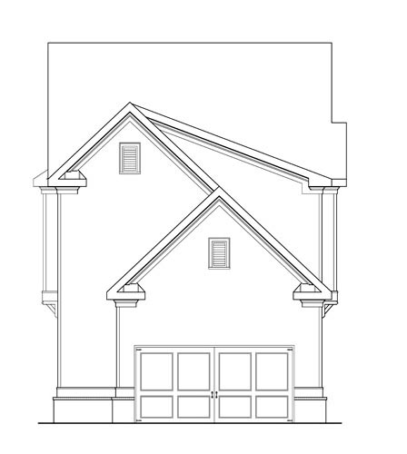 Country, Traditional House Plan 75311 with 4 Beds, 4 Baths, 2 Car Garage Rear Elevation