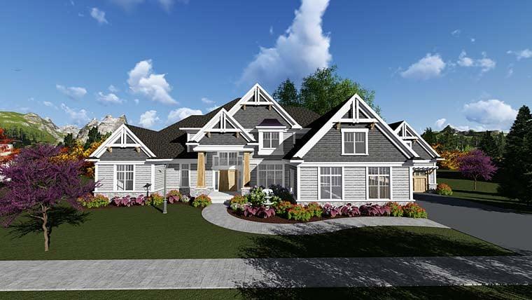 Craftsman Traditional House Plan 75417 Elevation