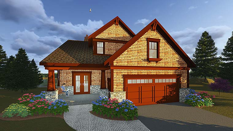 Bungalow Cottage Country Craftsman Traditional House Plan 75419 Elevation