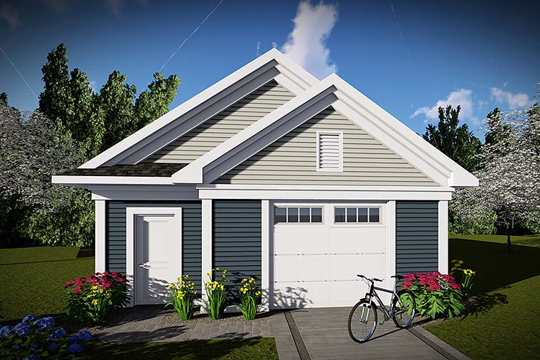 Traditional 2 Car Garage Plan 75420 Elevation