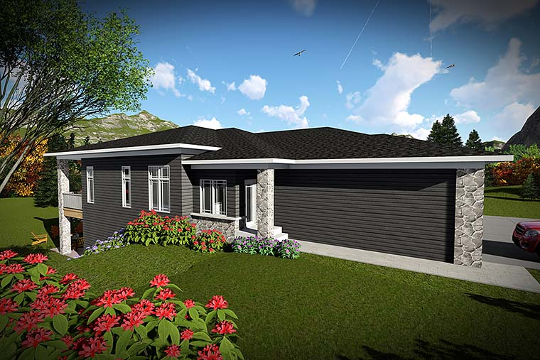 Modern Multi-Family Plan 75445 with 6 Beds, 6 Baths, 4 Car Garage Elevation