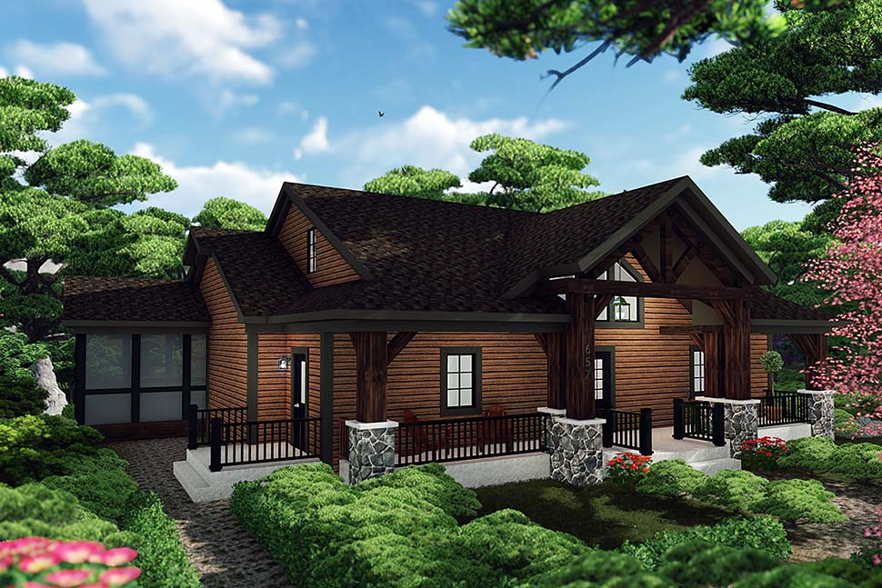Craftsman Style House Plan 75460 With 3 Bed 3 Bath