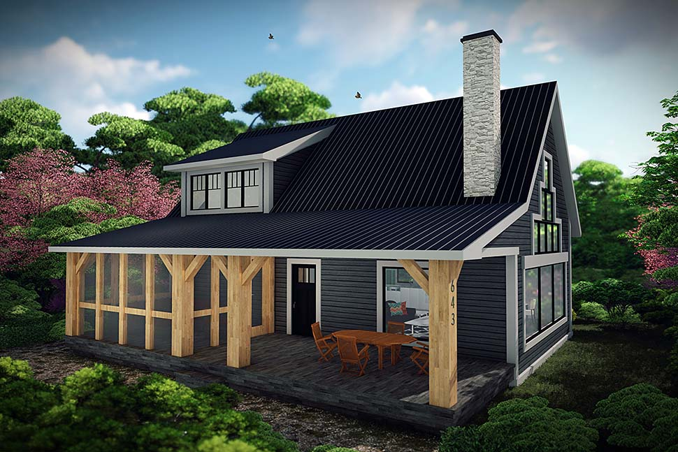 Cabin Style House Plan 75467 With 1 Bed 1 Bath