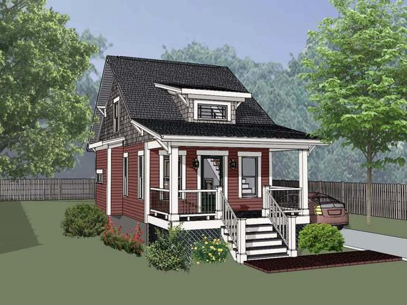 Cottage, Country House Plan 75510 with 1 Beds, 1 Baths Elevation