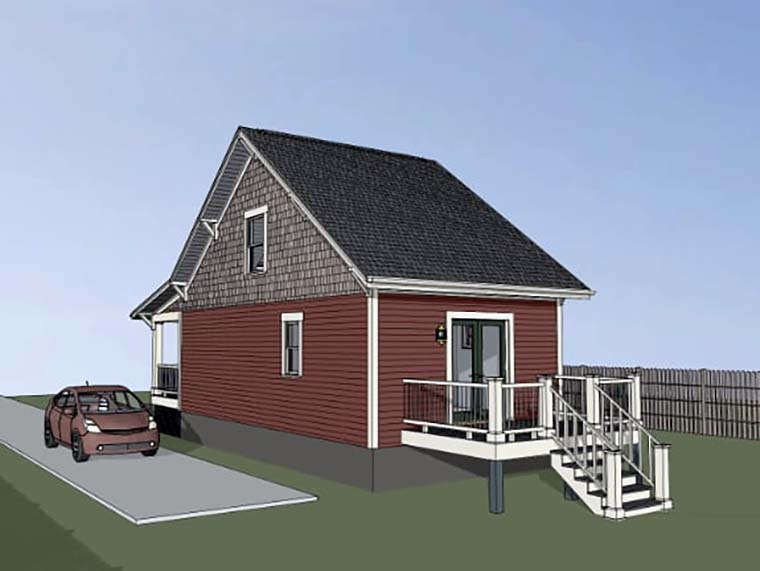 Cottage, Country House Plan 75510 with 1 Beds, 1 Baths Picture 1