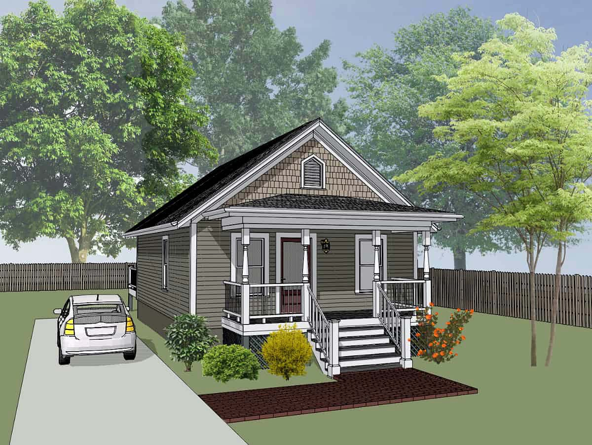 Bungalow, Colonial, Cottage House Plan 75512 with 2 Beds, 1 Baths Elevation