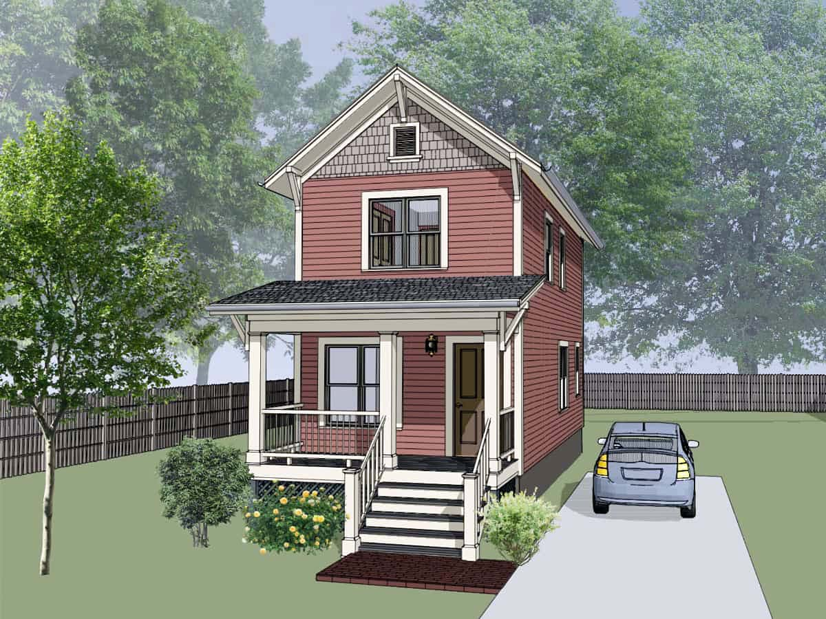 Colonial, Southern House Plan 75513 with 2 Beds, 2 Baths Elevation