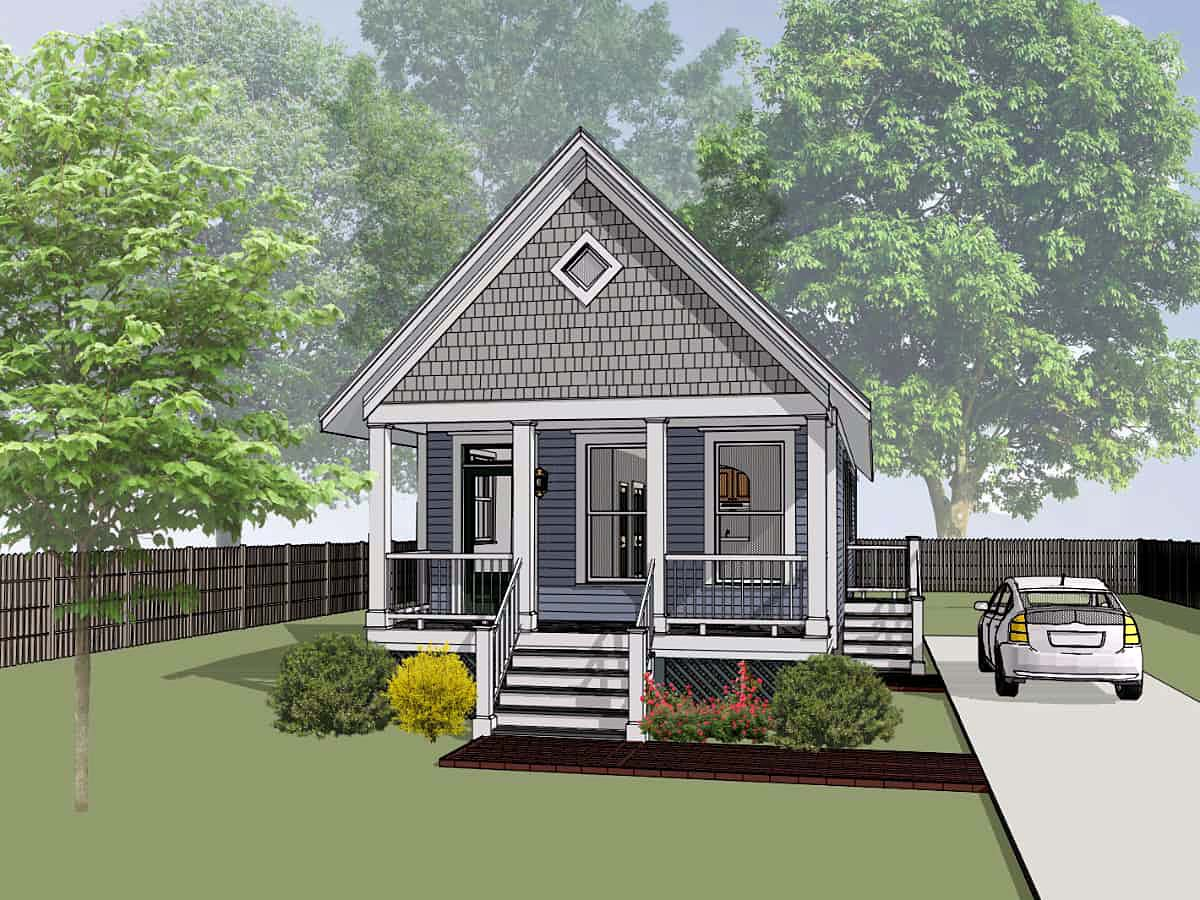 Bungalow, Colonial, Cottage House Plan 75514 with 2 Beds, 1 Baths Elevation