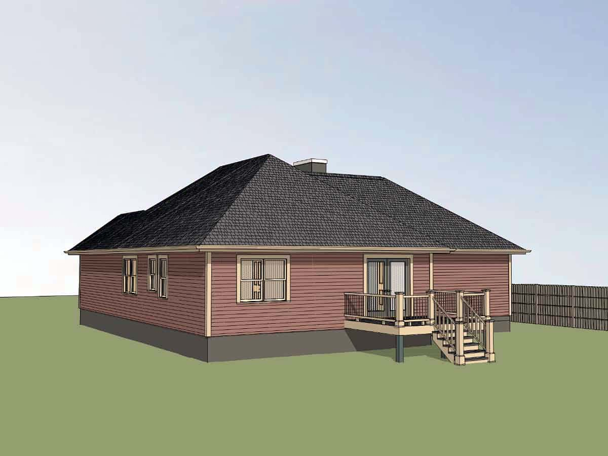 Cottage, Traditional House Plan 75539 with 3 Beds, 2 Baths, 1 Car Garage Picture 1