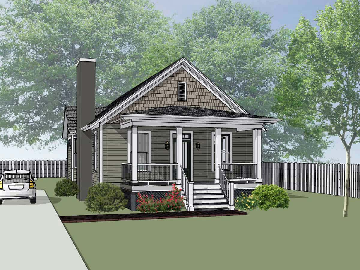 Bungalow, Cottage House Plan 75542 with 2 Beds, 2 Baths Elevation