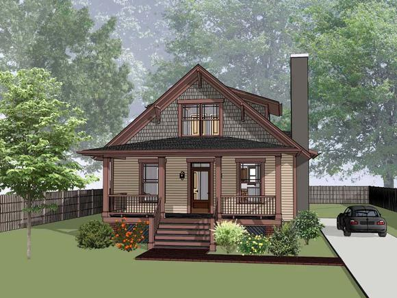 Bungalow House Plan 75545 with 3 Beds, 3 Baths Elevation